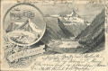 Kärnten: Gruß vom Ankogl von Süden 1899 nach Karlsruhe Deutschland gelaufen