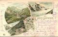 Kärnten: Gruß vom Gross Glockner Litho 1896 Heiligenblut, Glockner Haus usw.