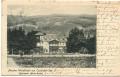 Kärnten: Gruß vom Ossiacher See Pension Waldfriede 1908 ( Marie Renka )