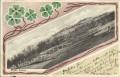 Lettland: Gruß aus Mitau 1900 Schloss ( Kleeblatt Schmuck Karte ) nach Wien gelaufen