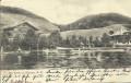 NÖ: Gruß aus Aspang am Teich 1902 mit Villen und Booten