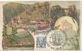 NÖ: Gruß aus Dürrenstein an der Donau Ruine Dürenstein Litho 1898 ( nackte Frau ) + Stempel 1965