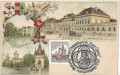 NÖ: Gruß aus Laxenburg Litho ca. 1898 Marianeninsel Schloss usw + Stempel 1967