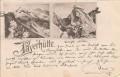 Tirol: Gruß von der Payerhütte ( Südtirol Trentino )  1897  ( Correspondenz Tittel Komponist )