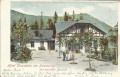 NÖ: Gruß vom Semmering Litho 1904 Hotel Einsiedelei nach Halle an der Saale gel.