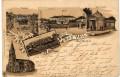 OÖ: Gruß aus Bad Hall Litho 1897 Tassilo Quelle, Curhaus Trinkhalle, Promenade,