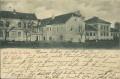 OÖ: Gruß aus Bad Hall 1901 herrliche Häuser Ansicht von Bad Hall nach Wien gelaufen
