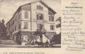 OÖ: Gruß aus Gleichenberg 1900 Villa D´Orsay Ansicht und Kutsche