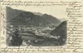 OÖ: Gruß aus Ischl 1901 herrliche Panorama Ansicht von Ischl nach Wien gelaufen