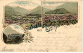 OÖ: Gruß aus Ischl Litho 1901 Traunthal, Kurhaus, Gassner usw...