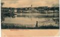 OÖ: Gruß aus Mauthausen an der Donau um 1900 herrliches Panorama ( Ledermann )