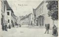 OÖ: Grüß aus Perg Badgasse 1906 herrliche Strassenansicht nach Sachsen gelaufen