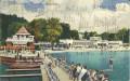 OÖ: Gruß aus dem Salzkammergut 1928 Gmunden Strandbad Bad, schwimmen ..