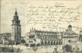Polen: Gruß aus Krakow 1898 ( Wieza ratuszowa i Sukiennice ) nach Wien gelaufen