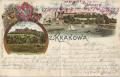 Polen: Gruß aus Krakowa, Krakow Litho 1900 Wawel, Kopiec Kosciuszki, usw.
