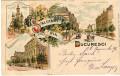 Rumänien: Gruß aus Bucuresci Litho 1898 Academia Bulevardul Elisabeta nach Wien