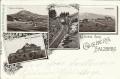 Salzburg: Gruß vom Gaisberg Litho 1904 Gaisbergbahn Grosser Durchbruch, Gaisbergspitze usw.