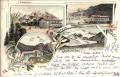 Salzburg: Gruß aus Kaprunthal Litho 1896 Orglerhütte, Kitzsteinhorn usw..