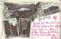Salzburg: Gruß aus Salzburg Litho 1899 Drahtseil Bahn, Neuthor, Mülln, Theater