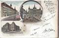 Steiermark: Gruß aus Graz Litho 1896 Hochschule, Landhaus, Rathhaus usw..