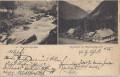 Steiermark: Gruß aus dem Jägerhaus im Hagenbachgraben + Wasserfall 1901