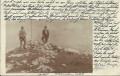 Steiermark: Dachstein Krippenstein Gipfel 1915 private Fotokarte von Bergsteiger