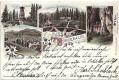 Steiermark: Gruß aus Mariazell Bürgeralpl Litho 1898 Schutzhaus, Gastwirtschaft