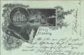 Tirol: Gruß aus Atzwang ( Südtirol ) 1899 Gasthof zur Post nach Karlsruhe gel.