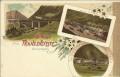 Tirol: Gruß aus der Franzensfeste Litho 1898 Brennerbahn mit Bahnhof und Zügen