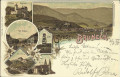 Tirol: Gruß aus Bruneck Litho 1897 Kaiser Warte, Schloss, Graben Sonnenburg usw.