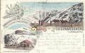 Tirol: Gruß von der Ferdinandhöhe a.d. Stiftersjoch Tirol Litho 1894 ( Correspondenz Tittel Komponist )