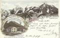 Tirol: Gruß aus St Gertraud im Suldenthal Stempel Tirol Litho 1897 Hotel Ortler ( Correspondenz Tittel Komponist )