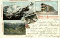 Tirol: Gruß von der Schmittenhöhe mit Speisesaal und Grossglockner Litho 1902