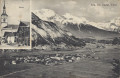 Tirol: Gruß aus Silz Ob. Inntal ca. 1918 Panorama, Kirche usw.