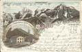 Tirol: Gruß aus St Gertraud im Suldenthal Stempel Tirol Litho 1898 Hotel Ortler