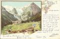 Tirol: Gruß aus Trafoi Litho 1897 herrliches Motiv ( Correspondenz Tittel Komponist )