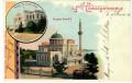 Türkei: Gruß aus Litho Constantinople 1901 Mosquee Hamidie Palais de Yildiz