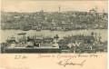 Türkei: Gruß aus Constantinople 1901 Hafen, Schiffe, Moschee ... nach Wien