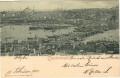 Türkei: Gruß aus Constantinople 1901 Hafen, Schiffe, Moschee, Brücke nach Wien