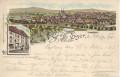 Gruß aus Eger Litho 1894 ( Böhmen ) ( Vorläuferkarte ) Wallensteinhaus Landschaft