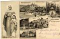 Gruß aus Altwasser b. Liebau Nordmähren Litho 1903 Kirche, Königsbrunnen usw..