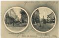 Gruß aus Czernowitz 1911 Cafe Habsburg + Hauptstrasse mit Strassenbahn