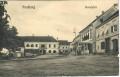 Gruß aus Friedberg in Böhmen 1910 Hauptplatz mit Geschäften, Häusern usw...
