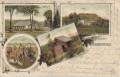 Gruß aus dem Hohenwald ( Böhmen ) Litho 1903 Forsthaus, Jub. Schutzhütte usw..