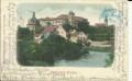 Gruß aus Jindrichuv Hradec 1900 Häuser, Schloss, Strassen usw.. nach Wien