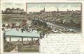Gruss aus Znaim Litho 1900 Thaya Viadukt, Klosterbruck nach Linz OÖ. gelaufen