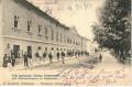 Ungarn: Gruß aus Karansebes 1903 Alte Infanterie Kaserne mit Soldaten