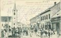 Ungarn: Gruß aus Karansebesi vasar ter 1903 Karansebeser Marktplatz