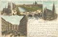 Wien I: Gruß aus Wien Litho 1897 Elisabethbrücke an Bernhard Tittel / Komponist