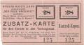 Wien II: Eintritt Zusatzkarte für Hygiene Austellung 1925 ( Wiener Messe )